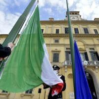 Festa della Repubblica: cerimonia in forma ridotta nel parco Ducale - Foto