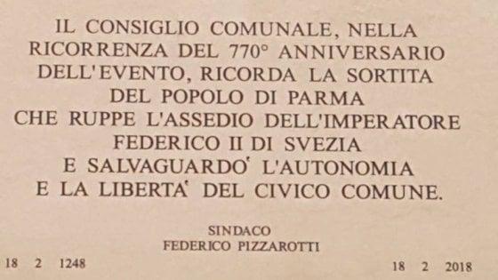 """Parma, il Comune affida l'incarico per rimediare all'errore """"Federico di Svezia"""""""