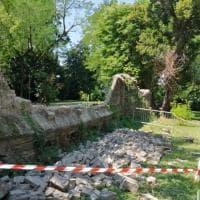 San Secondo, crolla un pezzo delle mura della Rocca - Foto