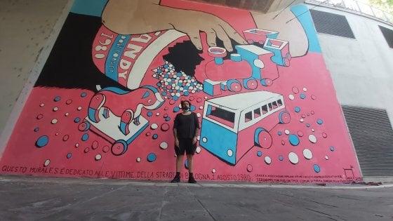 Parma, un murale per ricordare la bomba del 2 agosto 1980 a Bologna