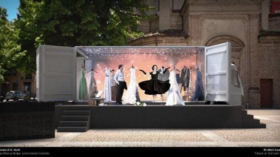 Caravan verdiano, a Parma l'opera del maestro viaggia su un teatro mobile