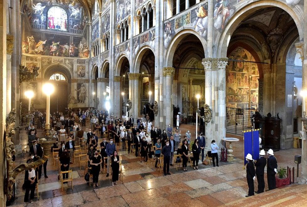 Parma, in Duomo l'addio a Franco Maria Ricci - Foto