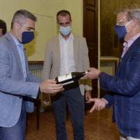 Parma, la visita in municipio del neo presidente crociato Krause - Foto