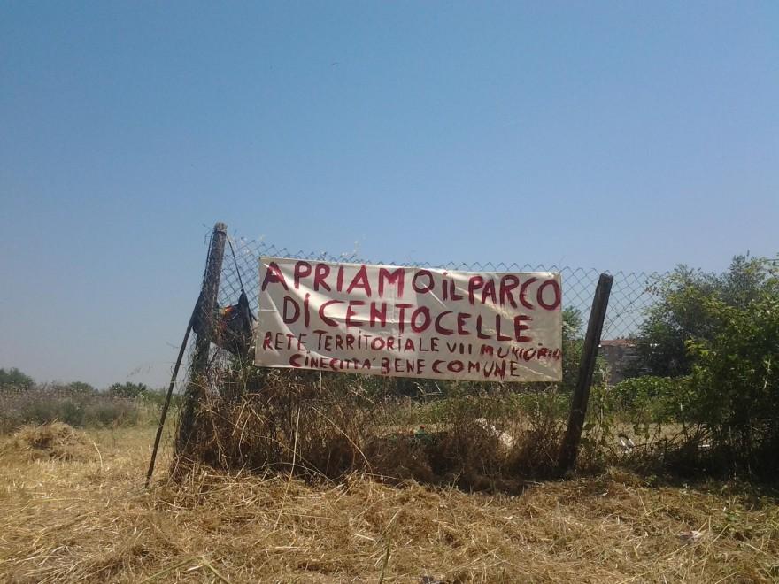 """""""Vogliamo il parco archeologico di Centocelle"""", è protesta per il verde"""