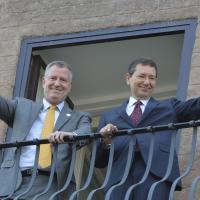 De Blasio in Campidoglio, il sindaco di New York incontra Marino
