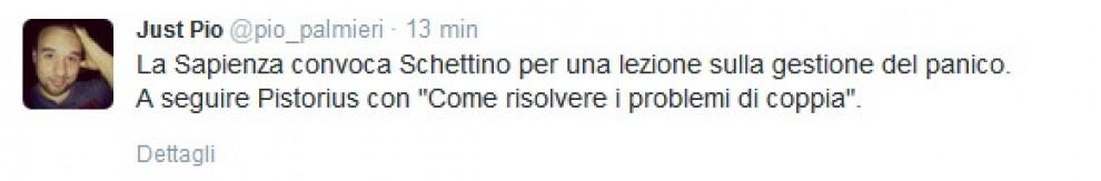 Schettino alla Sapienza: ironie e accuse su Twitter