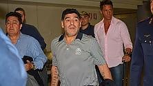 Maradona e Violetta  a Fiumicino per la Partita per la Pace di lunedì