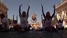 Yoga Festival  Video  flash mob in Campidoglio