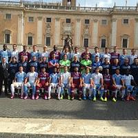 """Lazio, la foto in Campidoglio. E Parolo avverte il Genoa: """"Possiamo"""