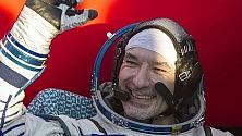 L'astronauta e la terra vista dallo spazio