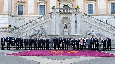 Sfilata di sindaci in Campidoglio, Marino accoglie i primi cittadini d'Europa  Foto