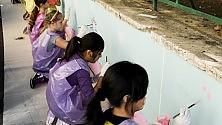 Trullo, i bambini colorano il quartiere