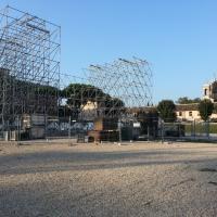 Circo Massimo, il palco della convention dei Cinque Stelle