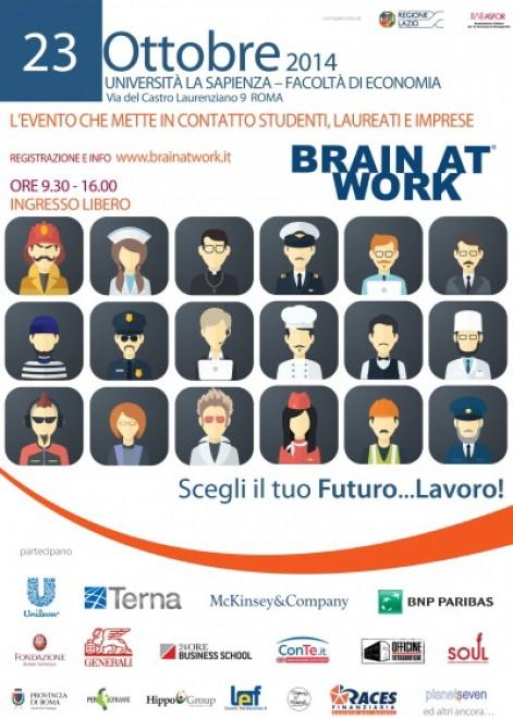 Brain at Work alla sapienza, giovani alla ricerca di lavoro e aziende a caccia di nuovi talenti