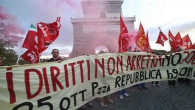 Scioperi e cortei, due giorni a rischio caos   Ft   stop dei trasporti, sabato Cgil in piazza