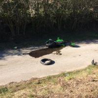 Bagnoregio, moto contro auto: grave centauro