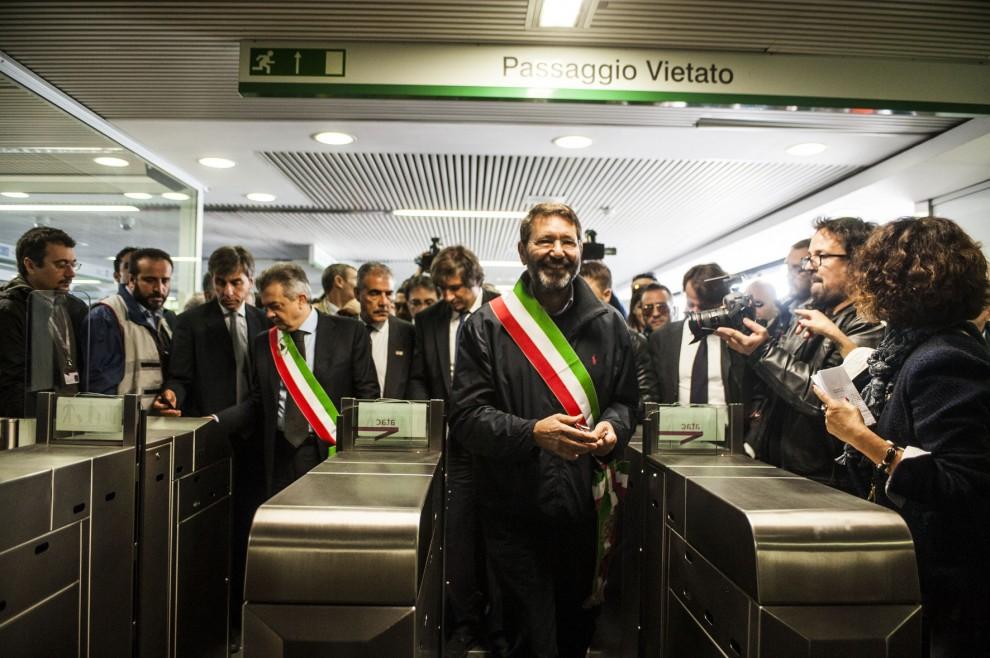Inaugurata la metro C, il sindaco Marino a bordo