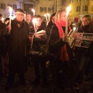 Charlie Hebdo, in piazza Farnese la manifestazione per la libertà di stampa