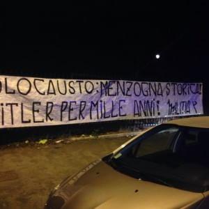 Giorno della Memoria, striscione antisemita esposto fuori dal parco Rabin ai Parioli