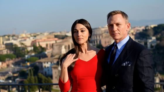 James Bond in Campidoglio, Daniel Craig e Monica Bellucci incontrano Marino