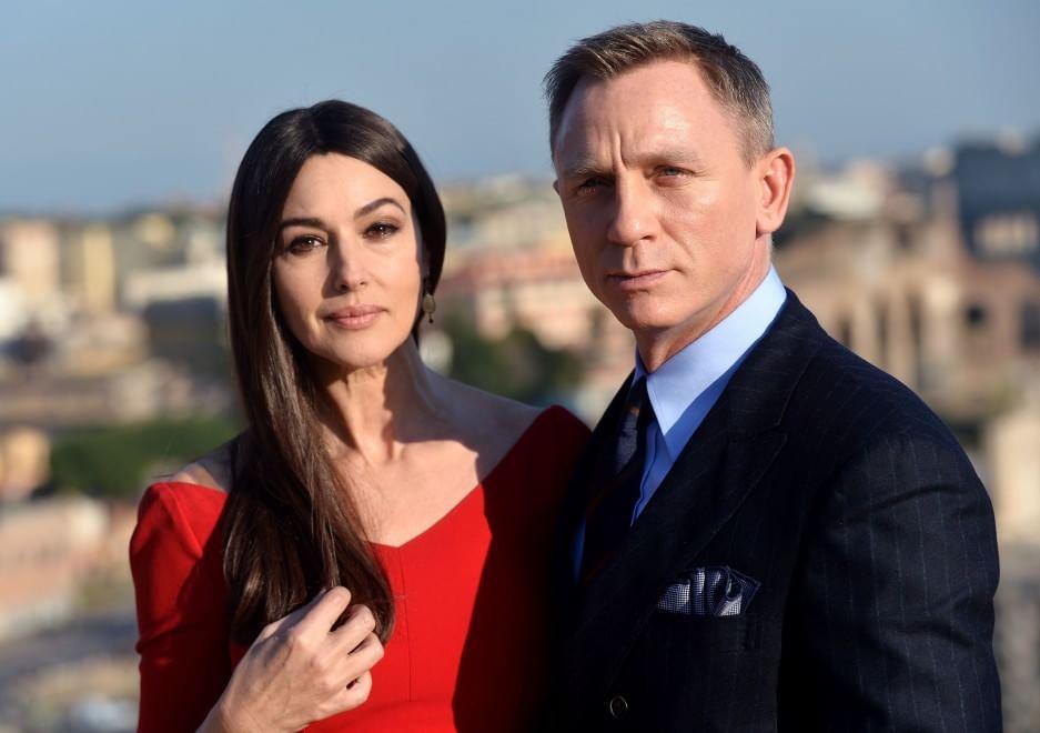 Daniel Craig e Monica Bellucci in Campidoglio