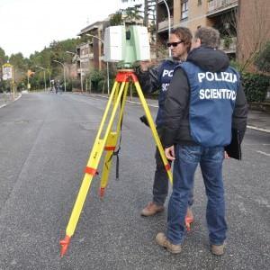 Omicidio Moro, in via Fani nuovi rilievi della polizia scientifica con laser