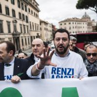 """Lega, CasaPound e corteo anti-Salvini, sabato caldo a Roma. Ma il prefetto: """"Nessun..."""