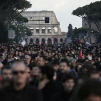 Roma blindata, la città vince la sfida tra i cortei della Lega e