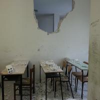 Cassino, crolla un muro: paura nell'istituto alberghiero
