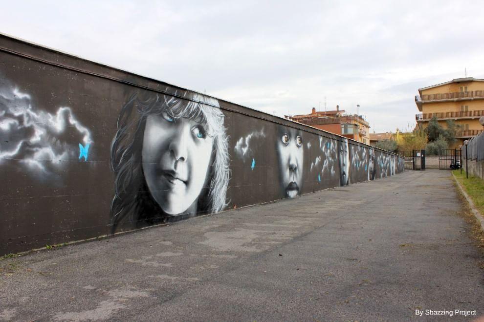 Le emozioni dei bambini nei murales di Neve