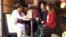 Colazione da McDonald's in pigiama e vestaglia