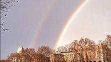Il doppio arcobaleno nel cielo di Roma  Ft