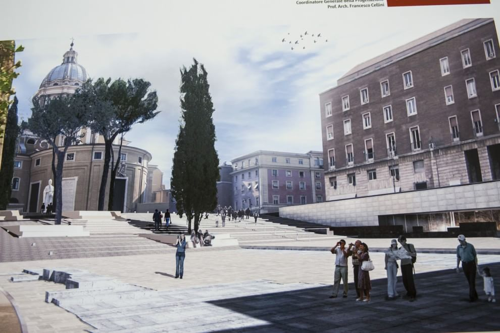 Piazza augusto imperatore ecco i rendering del restyling for Augusto roma