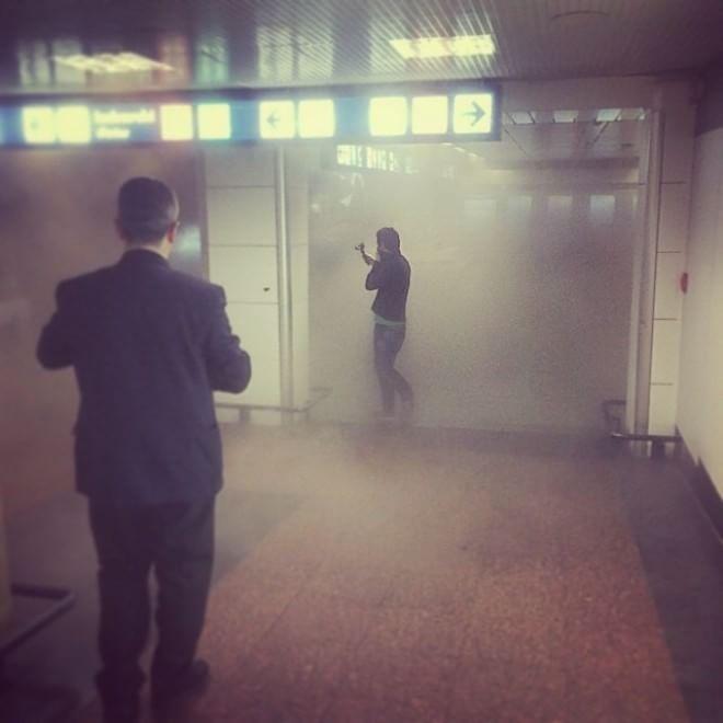 scalo invaso dal fumo