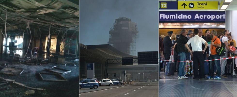"""Paura nello scalo di Fiumicino, incendio al terminal 3: """"Non è doloso"""". Enac: capacità operativa dell'aeroporto al 50 per cento"""