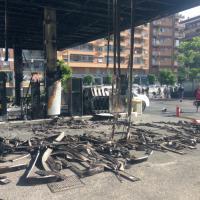 Via Tiburtina, incendio in un distributore di benzina: tre intossicati