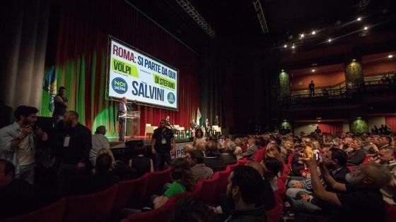 """Salvini a Roma, comizio al Brancaccio: """"La città è sporca e insicura"""""""