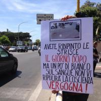 Aurelia, la protesta dei residenti: