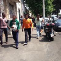 Tiburtina, torna la polizia, migranti in fuga dal centro di accoglienza
