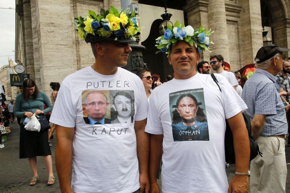 l'arrivo in piazza della Repubblica