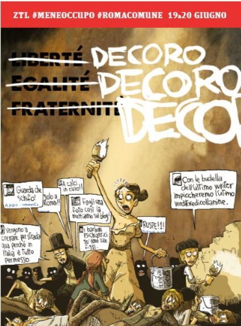 """Nelle metro spunta la finta free press di """"Roma Comune"""". E ZeroCalcare si ispira a Delacroix"""