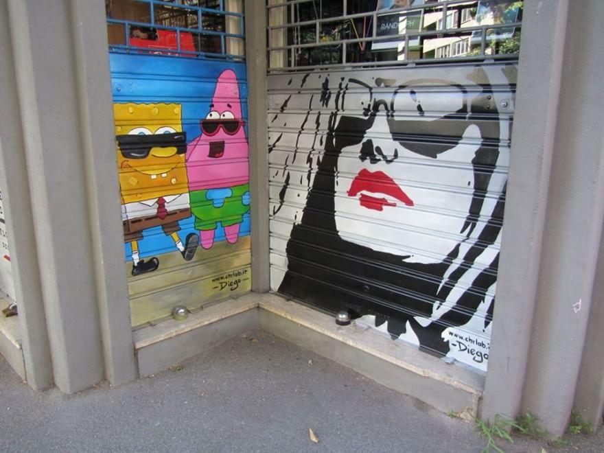Montagnola, dipingono le serrande contro gli atti vandalici