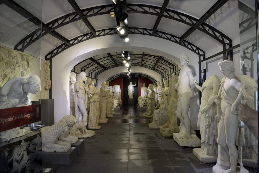 Il deposito delle sculture di Villa Borghese diventa un museo