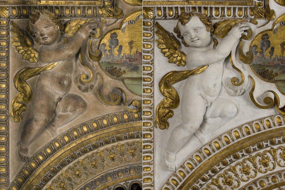 Palazzo Farnese, risplende la Galleria dei Carracci: prima e dopo il restauro