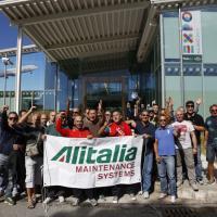 Alitalia, nuovo presidio lavoratori a Fiumicino: