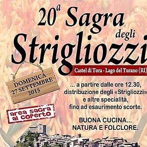 Strigliozzi sulle rive del Lago del Turano, Castel di Tora festeggia il suo piatto più famoso