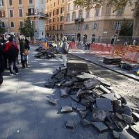 Al via i lavori in piazza San Cosimato,
