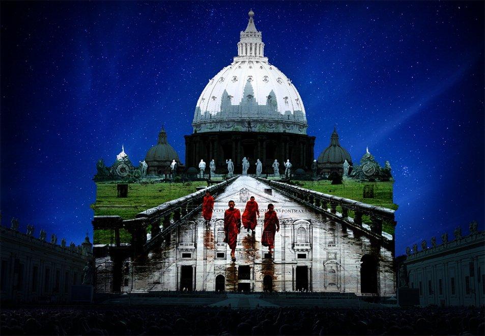 Roma, Giubileo: sopra San Pietro il grande show della natura