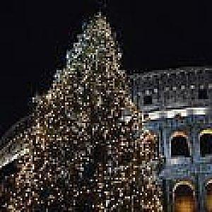 Luci di Natale a Roma, 9mila led per gli abeti di piazza Venezia e Colosseo - Repubblica.it