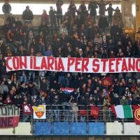 Cucchi, striscione dei tifosi della Roma a Verona: